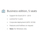 Ultimate Suite for Excel, Business