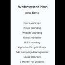 Webmaster Plan
