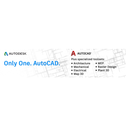 Autodesk AutoCAD - including specialized toolsets AD Commercial New  Single-user ELD 3-Year Subscrip